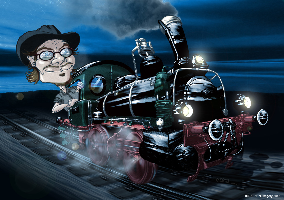 THE NIGHT TRAIN : 2012 : Caricature : projet personnel : Photoshop.